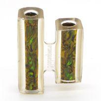 Green Gold Blankwerks paua abalone pen blank - Mistral/Leveche FP/RB